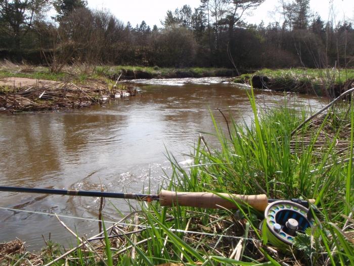Karsttoft Å byder på både ørred- og laksefiskeri og store naturoplevelser.
